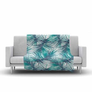 Danii Pollehn Palm Tree Branches Illustration Fleece Blanket By East Urban Home