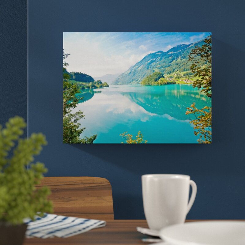 East Urban Home Lake Mountains And Forests Photographic Print On Wrapped Canvas Reviews Wayfair Co Uk