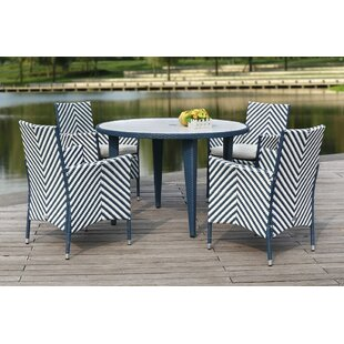 Mcgrady 5 Piece Dining Set with Cushions ..