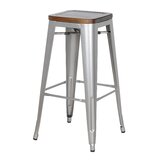 Carrizal Metal 29.92 Barstool (Set of 4) by Williston Forge
