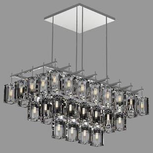 Fine Art Lamps Monceau 40-Light Square/Rectangle Chandelier
