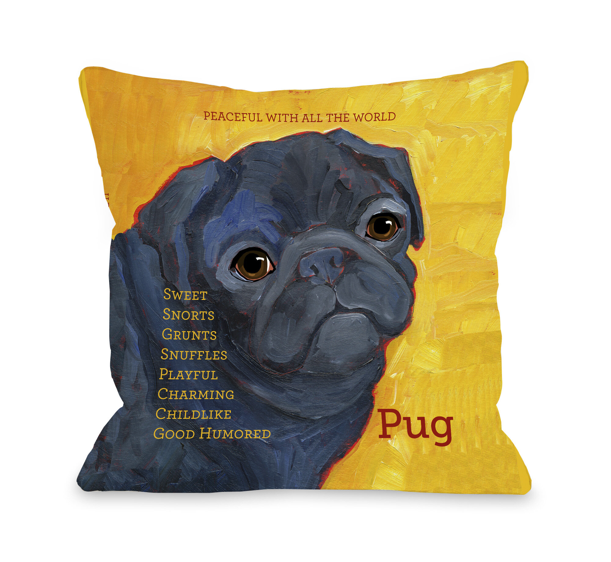 Winston Porter Kaelan Pug Pillow Reviews Wayfair