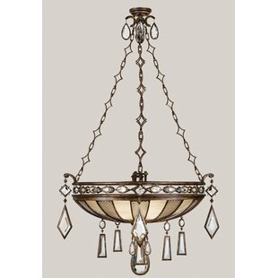 Fine Art Lamps Encased Gems 3-Light Bowl Pendant