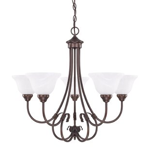Fleur De Lis Living Batchtown 5-Light Shaded Chandelier