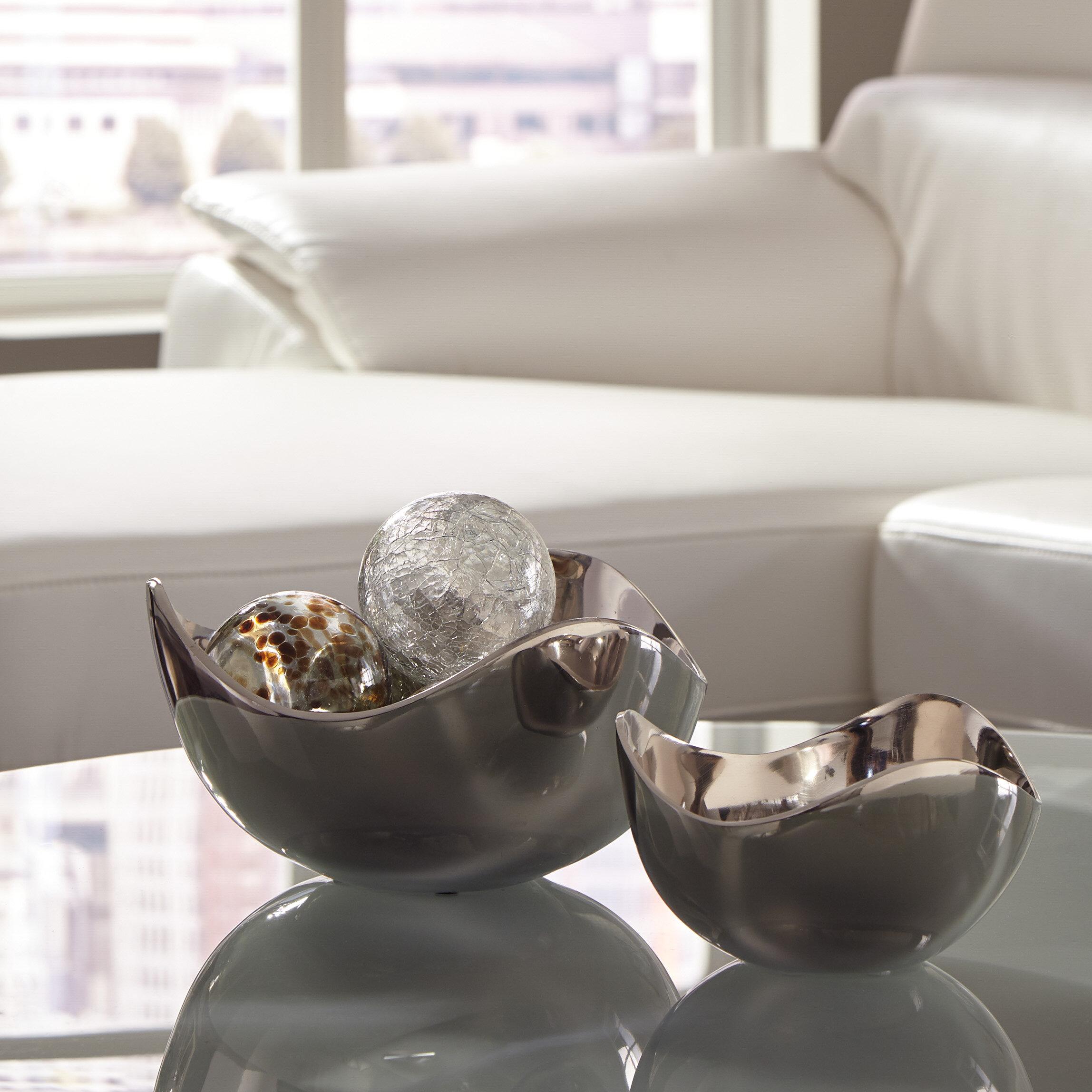 Orren Ellis Alethea 2 Piece Decorative Bowl Set Reviews Wayfair