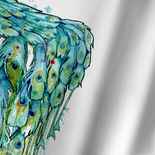 Sam Nagel Peacock Single Shower Curtain