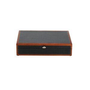 Bristol grande mahogany silverware chest with brown lining for Reed barton athena jewelry box