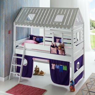 Castile European Single Mid Sleeper Bed With Roof By Zoomie Kids
