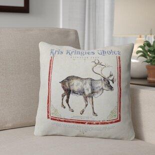 Reindeer Feed Throw Pillow