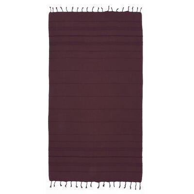 Bay Isle Home Sandspur Pestemal Turkish Cotton Beach Towel Color: Purple