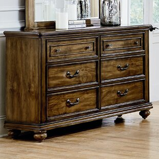 Thach Traditional 6 Drawer Double Dresser