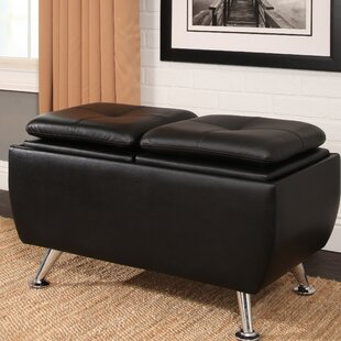 Rolston Leather Flip-Top Storage Ottoman by Orren Ellis