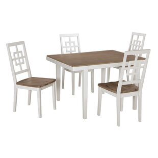 Nicol 5 Piece Dining Set by Beachcrest Home New