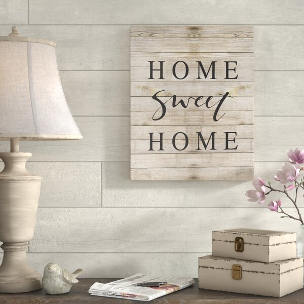 'Home Sweet Home Family Typography' Textual Art