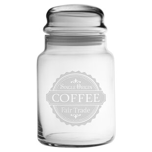 Fair Trade Coffee Jar by Susquehanna Glass