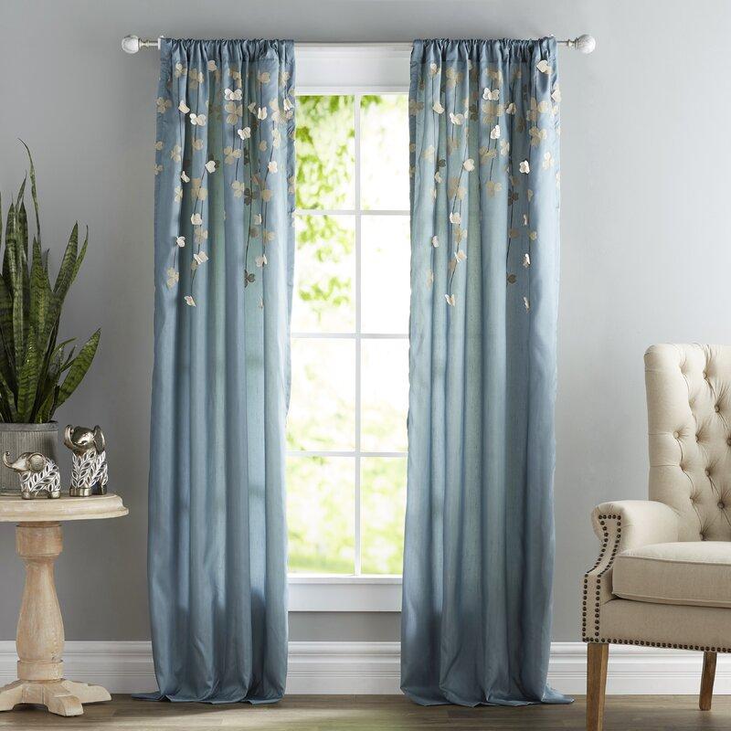Semi Sheer Single Curtain Panel