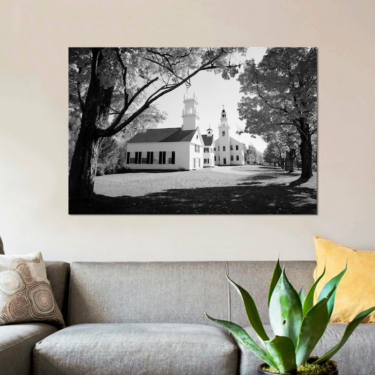East Urban Home 1960s Church And Local Buildings In The Town Square Of Washington New Hampshire Usa Photographic Print On Wrapped Canvas Wayfair