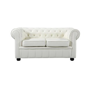 Kadlec Leather Chesterfield Loveseat