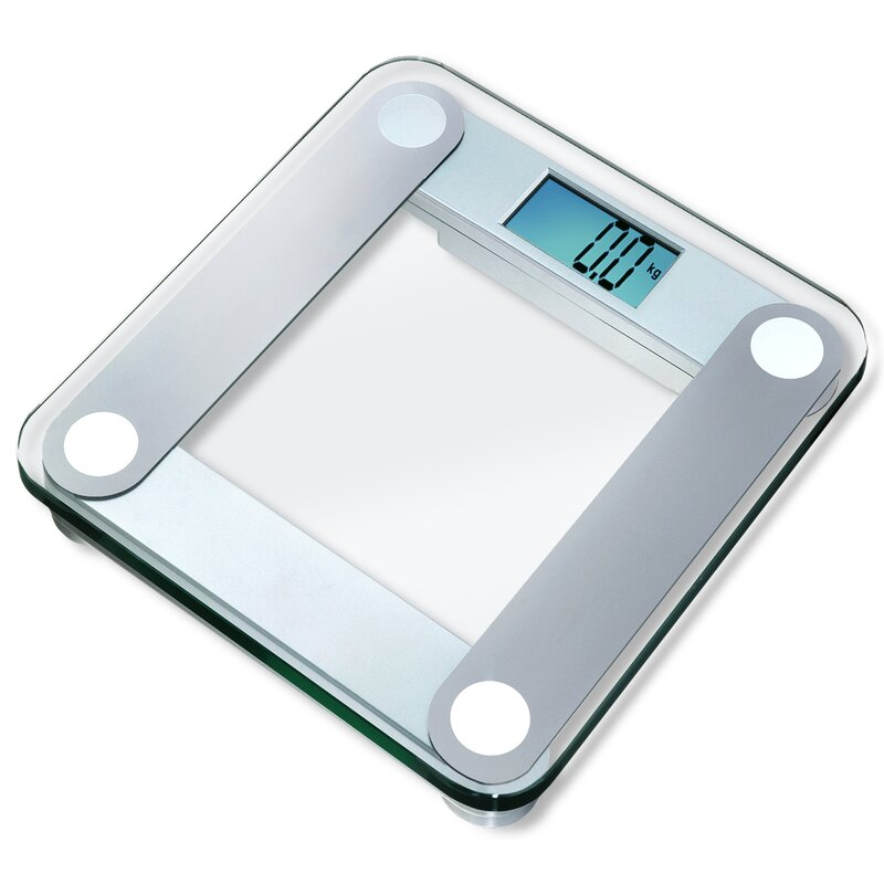 Digital Bathroom Scale With Extra Large Backlight In Silver