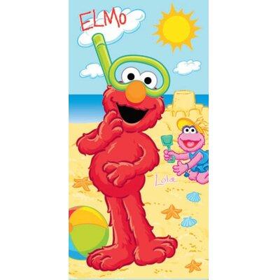 Royal Plush Elmo And Lola Building A Sandcastle Beach Towel Ben And Jonah