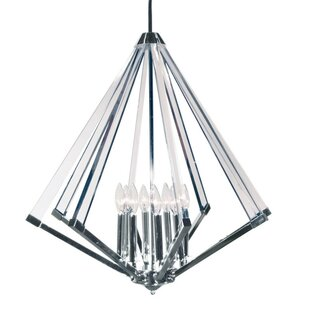 Altlass 8-Light Geometric Chandelier by Radionic Hi Tech