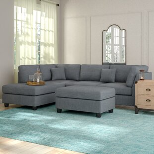 Enjoyable Hemphill Reversible Sectional With Ottoman Evergreenethics Interior Chair Design Evergreenethicsorg