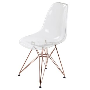 Brayden Studio Theophania Modern Rose Transparent Crystal Dining Chair (Set of 4)