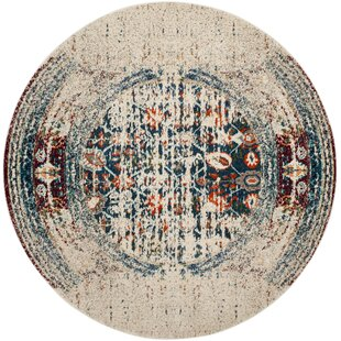 Sylvia Blue/ Ivory/ Orange/ Green Area Rug by Bungalow Rose