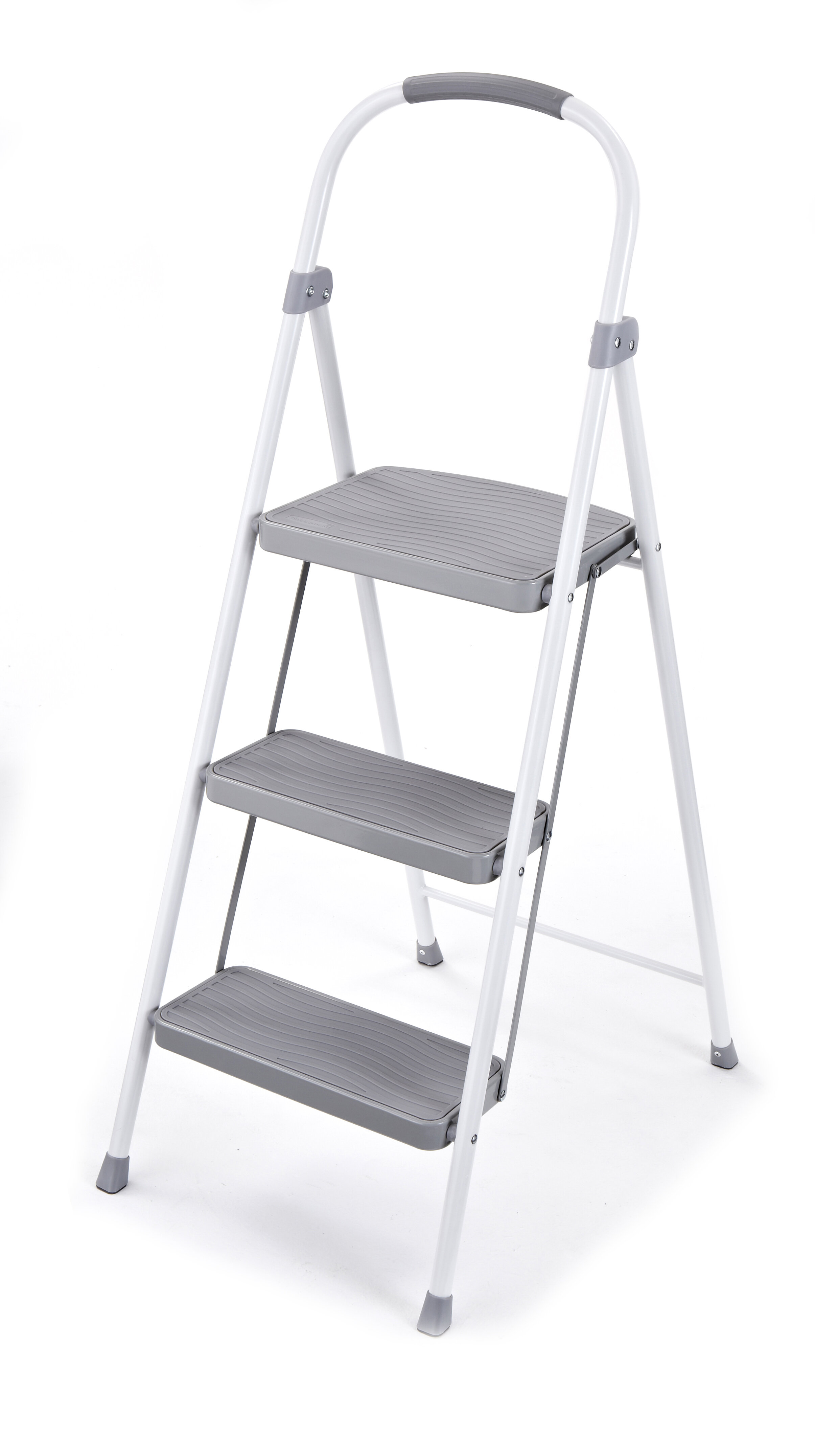 Outstanding 3 Step Steel Step Stool With 225 Lb Load Capacity Pabps2019 Chair Design Images Pabps2019Com