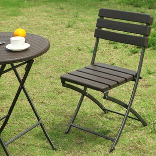 Winston Porter Danielson Bistro-Style Folding Patio Dining Chair (Set of 2)