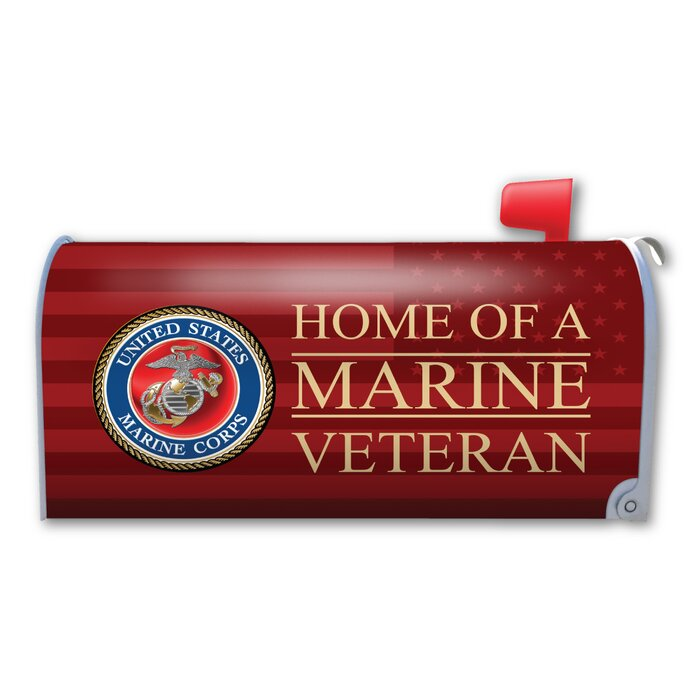 Home of a Marine Veteran Magnetic Mailbox Cover