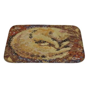 Animals Cat of Gustav Klimt Inspired Style Bath Rug
