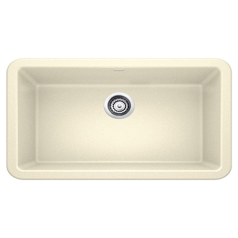 """Blanco Ikon 33"""" L x 19"""" W Farmhouse/Apron Kitchen Sink  Finish: Biscuit"""