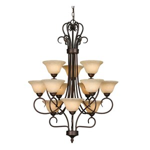Gaines 12-Light Shaded Chandelier