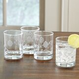 Caitlin Floral 15 oz. Drinking Glass (Set of 4)