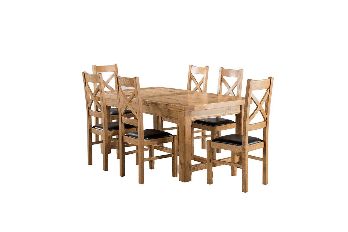 Brick & Barrow Essgruppe Canterbury mit ausziehbarem Tisch und 6 ...