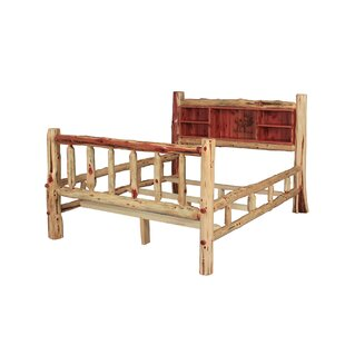 Tunnel Rustic Red Cedar Log Panel Bed
