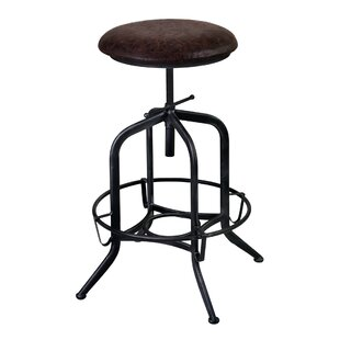 Williston Forge Cherlyn Adjustable Height Swivel Bar Stool