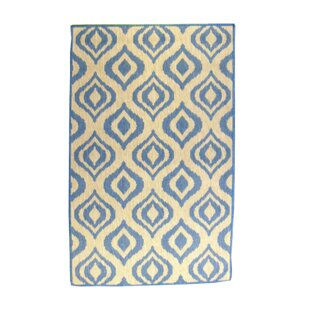 Ikat Blue/Natural Indoor/Outdoor Area Rug
