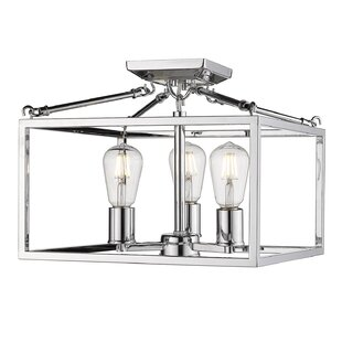 Zabel 3-Light Semi Flush Mount..