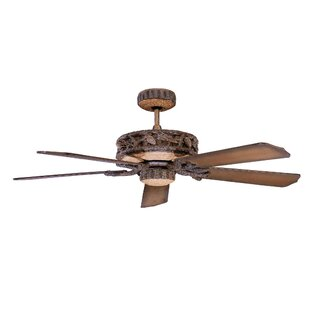 Compare prices 52 Alarcon 5-Blade Ceiling Fan By Loon Peak