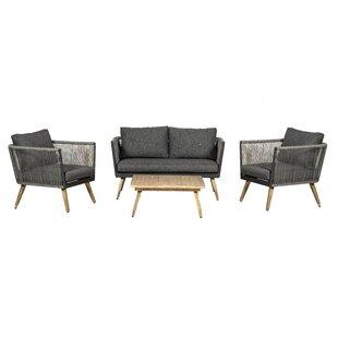 William 4 Seater Rattan Sofa Set Image