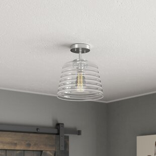 Wrought Studio Salley 1-Light Semi Flush Mount