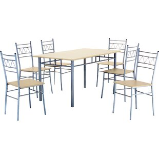 Roosevelt Dining Set With 6 Chairs By Brambly Cottage