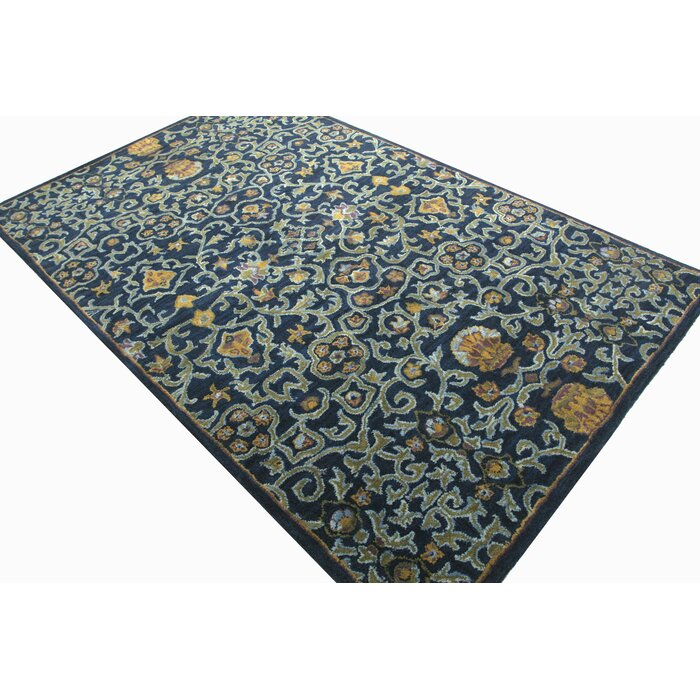 Wilshire Greta Hand Tufted Wool Navy Blue Area Rug
