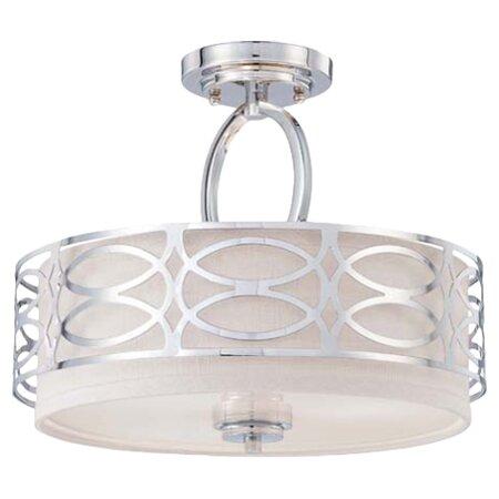 Helina 3 light semi flush mount