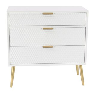 Affordable Price Dimitris Modern 3 Drawer Accent Chest By Everly Quinn