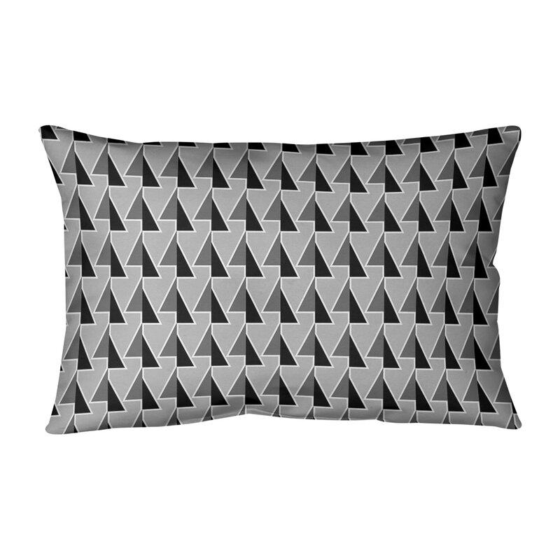 Brayden Studio Shifted Arrows Pattern Lumbar Pillow Wayfair