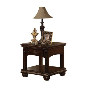 Lamartine Wooden Lower Shelf End Table by Darby Home Co