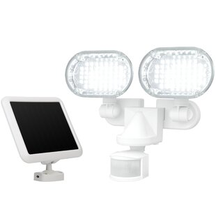 Solar Power Outdoor Security Flood Light with Motion Sensor by Sunforce